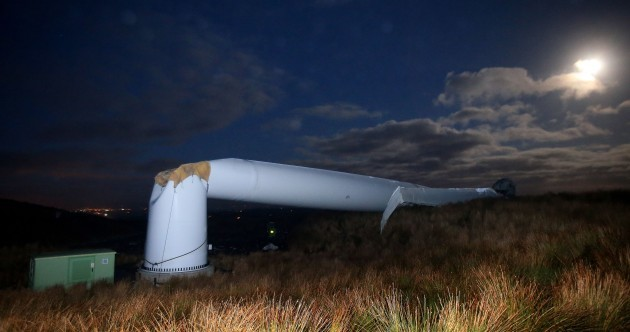 Pics: A wind turbine has collapsed in Co Tyrone