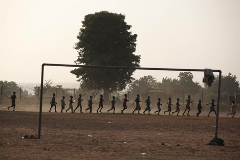 Children in Nigeria who have been internally displaced by Boko Haram attacks