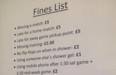 How much does it cost to pee in the shower at Blyth Spartans?