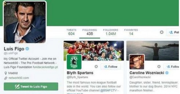 Luis Figo has totally jumped on the Blyth Spartans bandwagon