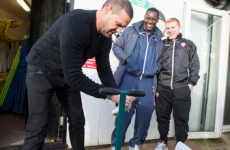 Paddy McGuinness had to take his toothbrush out to clean Emile Heskey's boots