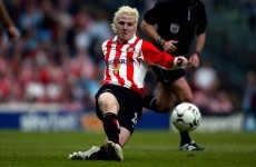 Sunderland's former blonde bombshell has joined Drogheda United
