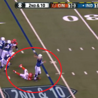 Even when he's falling, Andrew Luck can still throw ridiculous touchdown passes