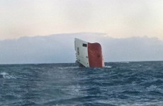 Haunting video released of capsized cargo ship