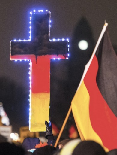 More than 18,000 people turned up to an anti-Islam rally in Germany