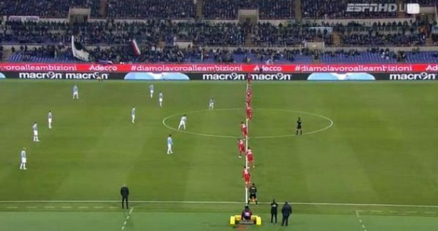 Sampdoria adopted a highly unusual 0-0-10 formation last night