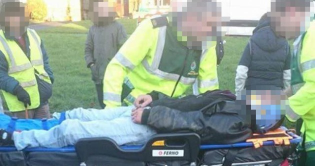 "Gardaí investigating after water meter protester allegedly ""hit by digger"""