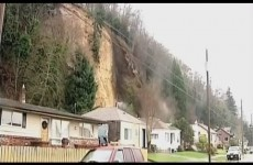 Watch the moment a terrifying landslide knocks entire house off its foundation