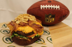 You can buy this beast of a burger at Sunday's Packers v Cowboys NFL game