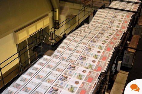 The final edition of the News of the World rolls off the presses after the paper was shut down amid allegations of phone hacking