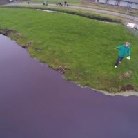 Here's what happens when you film with a drone... and its battery runs out