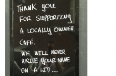 Cork coffee shop totally owns Starbucks with this outdoor sign