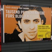 Blogger receives first 50 of 1,000 lashes for insulting Islam