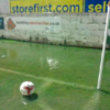 You think the weather is bad in Ireland? Torrential rain turns Accrington Stanley's pitch into a lido