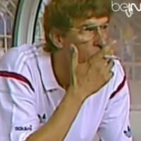Arsene Wenger used to smoke cigarettes on the bench at Monaco