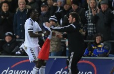 Swansea's Bafetimbi Gomis paid an emotional tribute to the Paris victims today