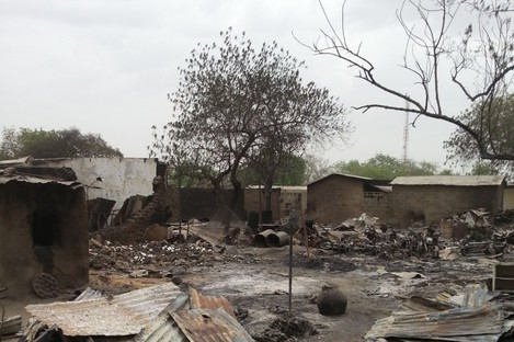 File photo: The town of Baga following at attack in 2013.