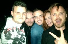 So, it looks like Aaron Paul was out gallivanting in Dublin last night