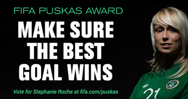 It's your very last chance to help Stephanie Roche win the Puskas Award