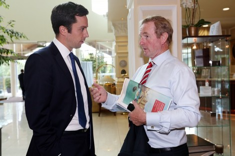 Eoghan Murphy with Enda Kenny (File)