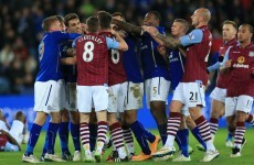 Aston Villa and Leicester charged by the FA after Saturday's shemozzle