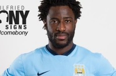 Wilfried Bony's move to Man City is now official