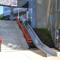 Wheee! Dutch train station installs slide as 'transfer accelerator'