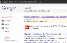 Google 'signpost' will direct suicide searchers to Samaritans