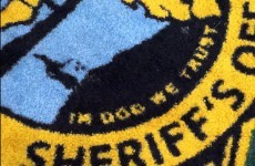 There's something terribly wrong with this sheriff's new rug...