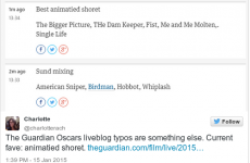 Hulianna MOore and benedict XCuebrvatch - The Guardian's hilarious Oscar typos