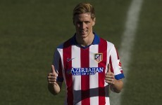 Fernando Torres has just scored his first goal for Atletico Madrid... this time round