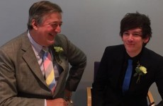 'We go into a room as two people, sign a book and leave as one': Stephen Fry is married