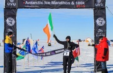 An Irishman won the 100km Antartic 'Ultra-Marathon' this week