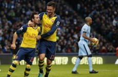 Santi Cazorla REALLY enjoyed his assist for Arsenal's second goal