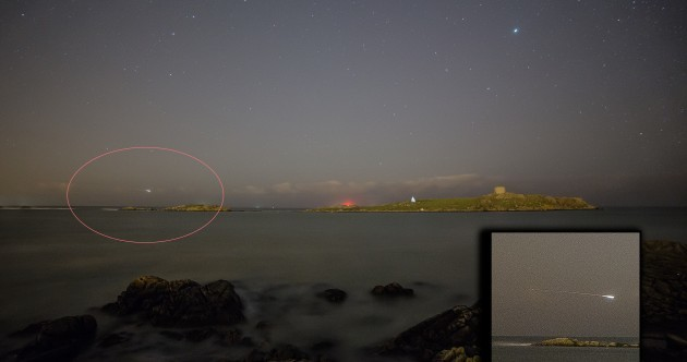This fireball tore across the night sky yesterday evening? Did you see it?
