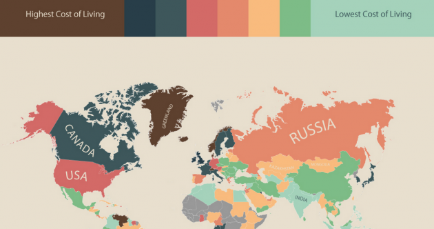 The cost of living all over the world in one neat infographic
