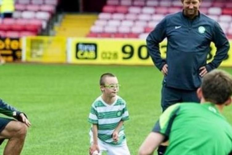 Jay Beatty training with Celtic.