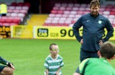 Celtic fans give 11-year old Jay Beatty another day to remember