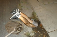 Man gets stuck in manhole trying to save his phone
