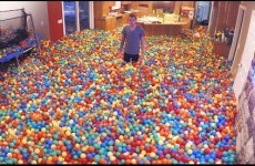 Dad of the year turns his entire house into a ballpit and it's AMAZING