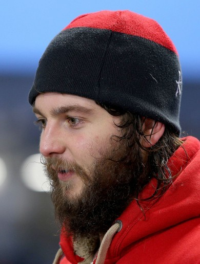 Baby-faced Iain Henderson now has a great big bushy beard!