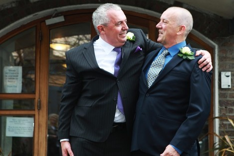 Thomas Cahalan and Nicholas Nelson became the second male couple in Ireland to enter into a civil partnership in 2011.