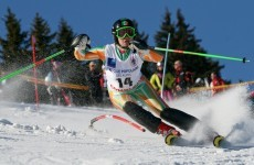 Irish Olympic skier Kirsty McGarry wins the 'world's craziest race' in the Swiss Alps