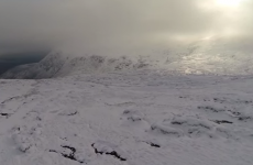 The Wicklow mountains are a winter wonderland in stunning drone footage