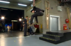 This skater couldn't just catch a break on the Late Late last night