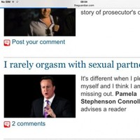 The Guardian website had an amazing picture fail this morning