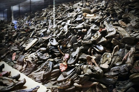Shoes from the Auschwitz camp.