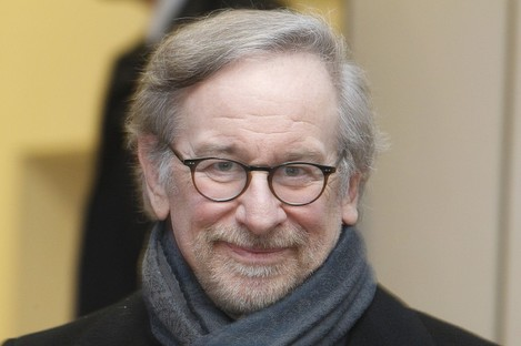 Spielberg pictured at today's event