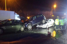 No injuries after five car pile up on M50 last night