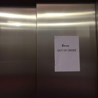 This graffiti in a Dublin office is the perfect response to the lift being broken